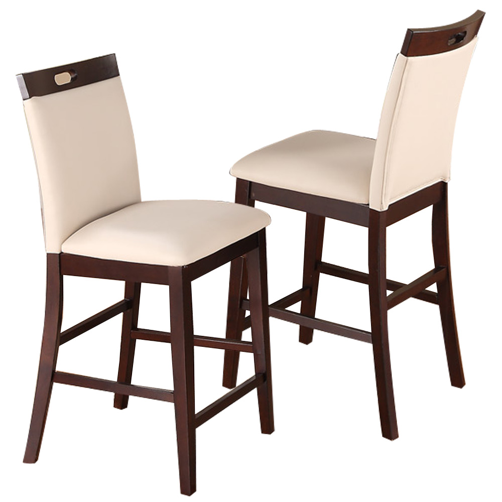 "Bar Stools 24 Counter Height: 2 Pc Dining High Counter Height Side Chair Bar Stool 24""H"
