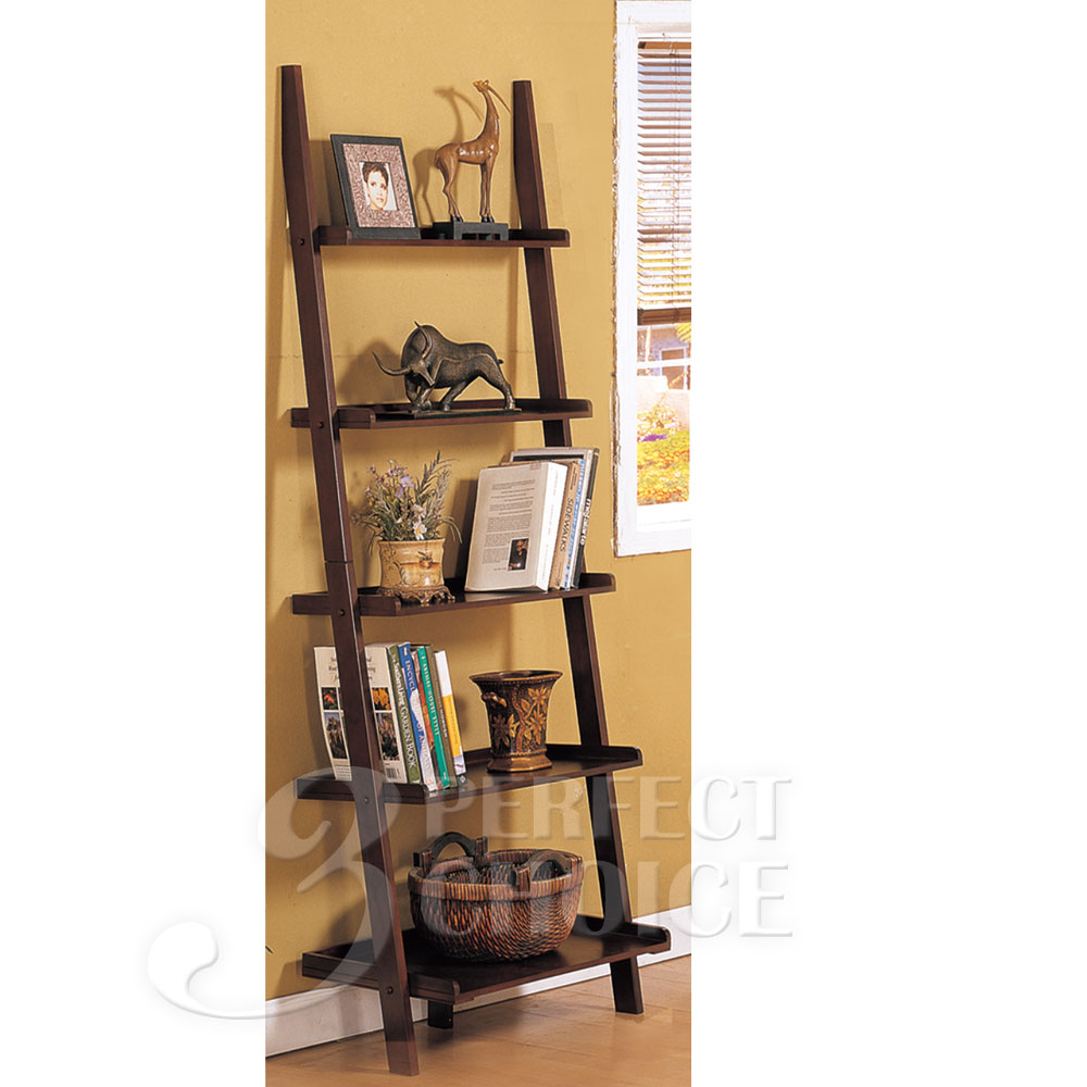 Country Living Display Ladder 5-Tier Leaning Wall Shelf ...