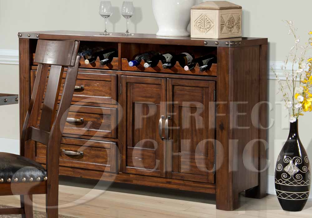 Transitional Dining Server Buffet Sideboard Storage Wine