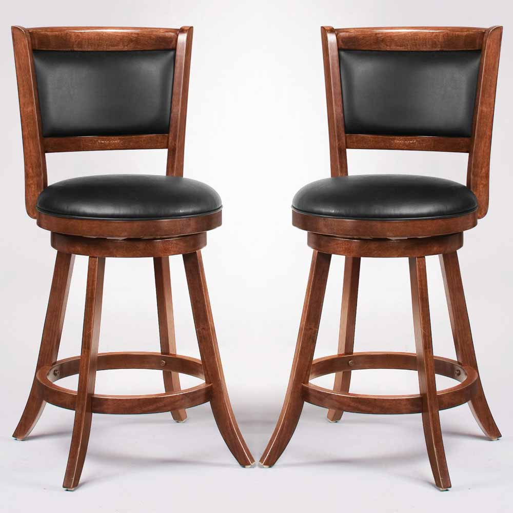 Swivel Wood Dining Chairs 24quotH Bar Stool Set of 2 Espresso  : CO 101919 2 from www.ebay.com size 1000 x 1000 jpeg 56kB