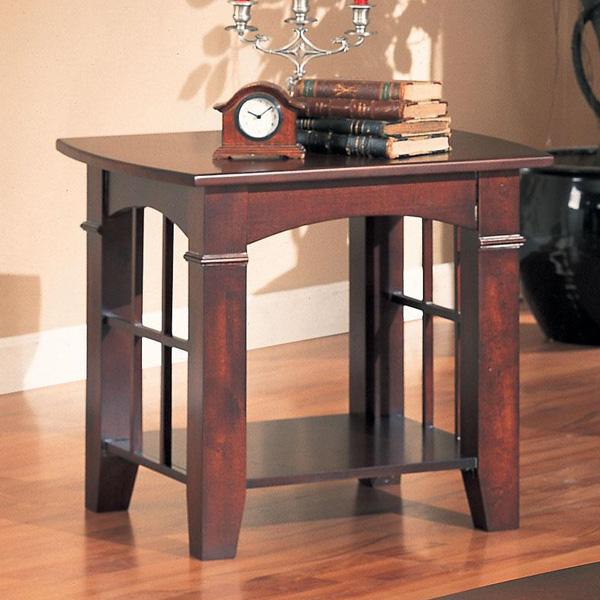Living Room Cocktail Coffee Table Sofa End Stand Dark Cherry Finish Wood Storage Ebay
