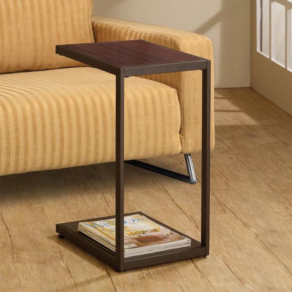 Living room snack sofa side stand table w lower shelf for C tables for living room