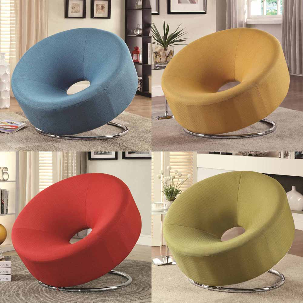 Fun Chairs For Living Rooms: Modern Accent Living Room FUN Donut Shaped Chair Seating