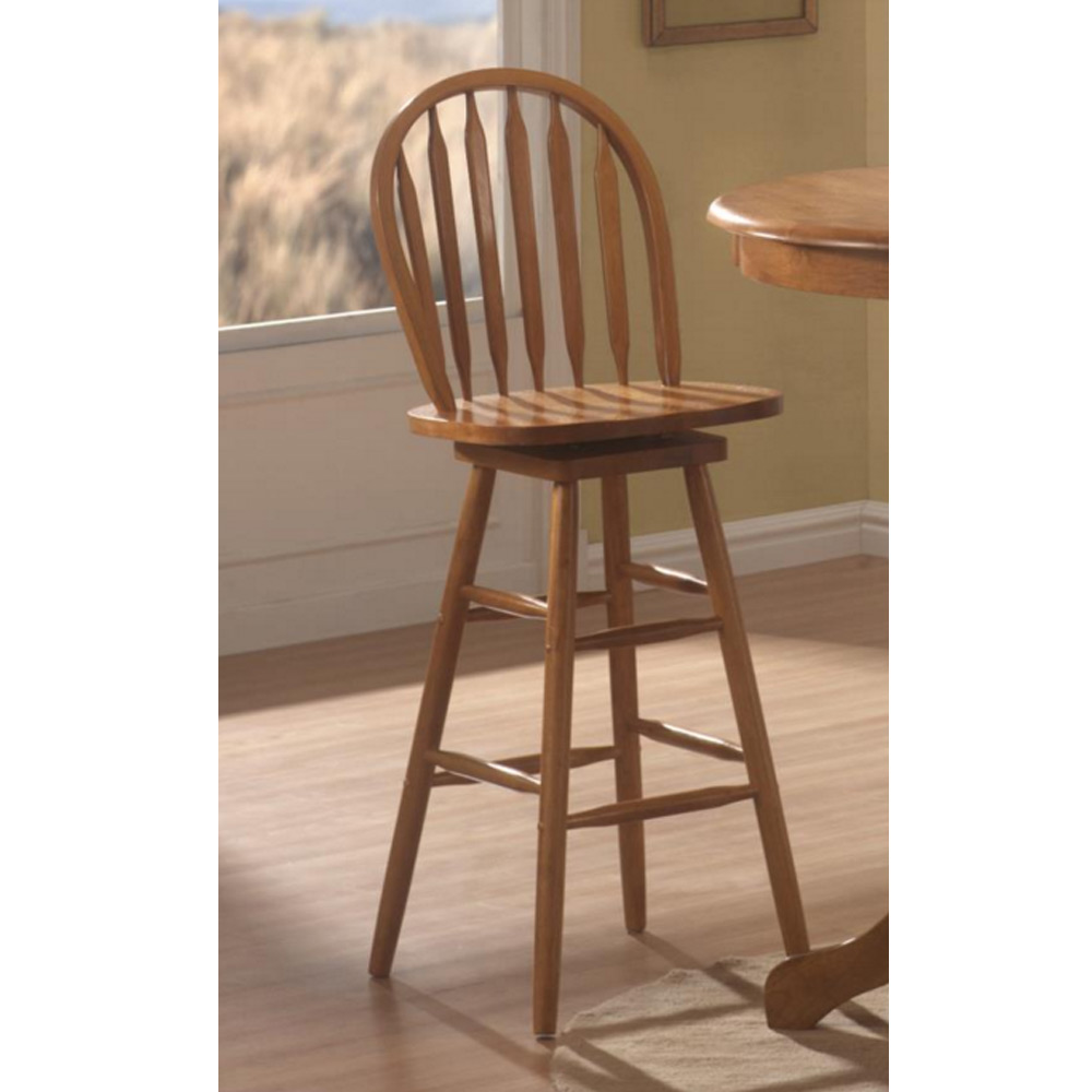 Woodlawn arrow back quot h solid wood bar stool chair wooden