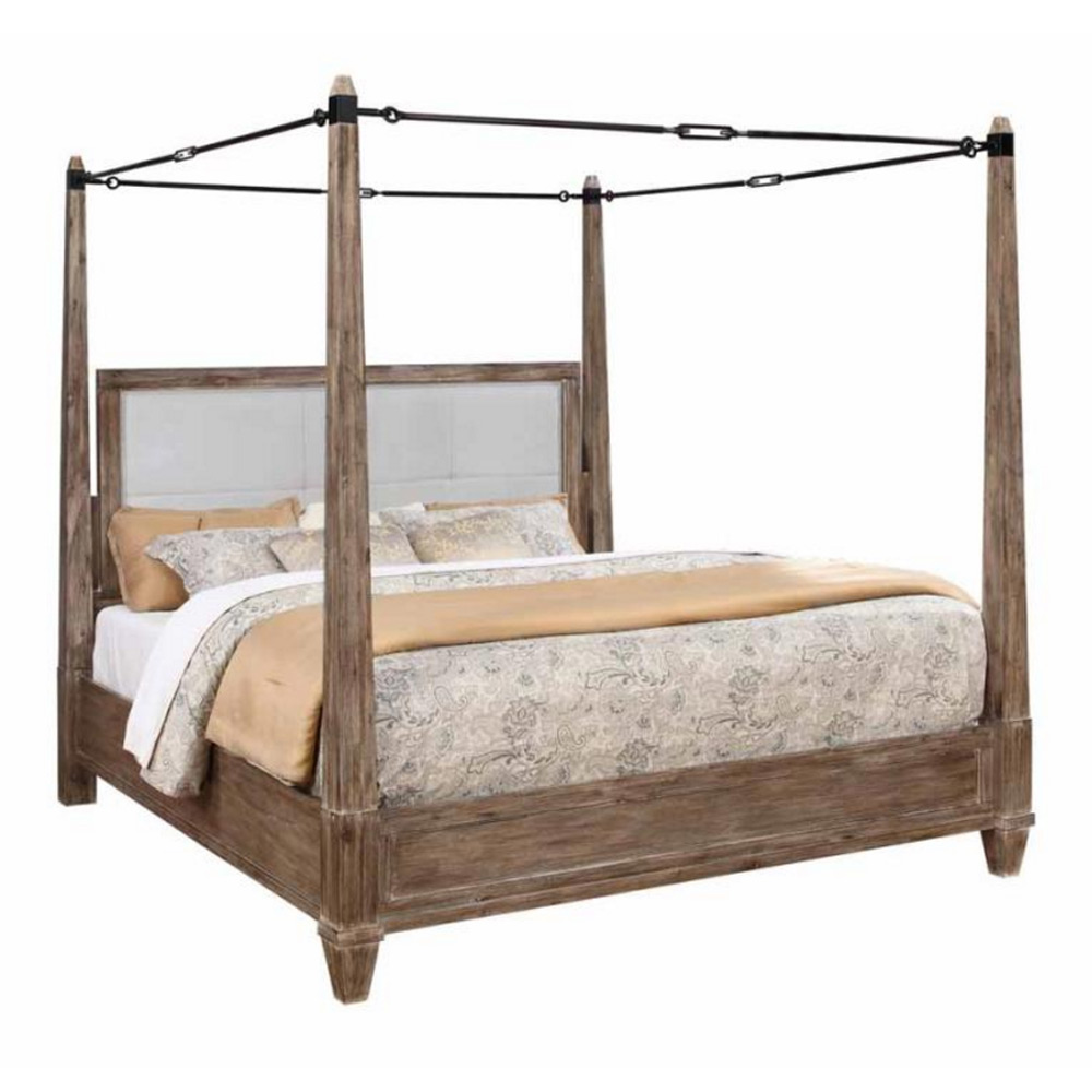 Madeleine Bedroom King Metal Buckle Canopy Bold Bed Solid