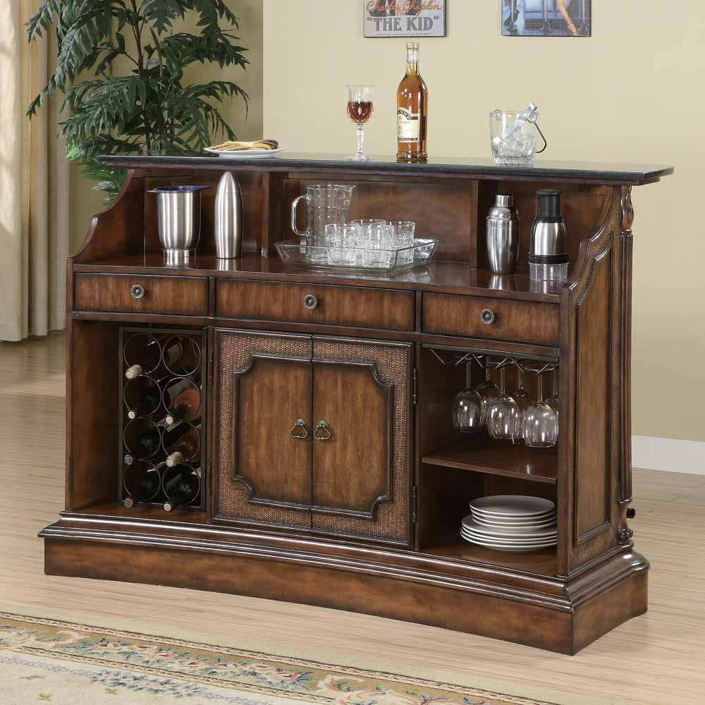 Claredon Traditional Home Bar Pub Table Server Wine Rack