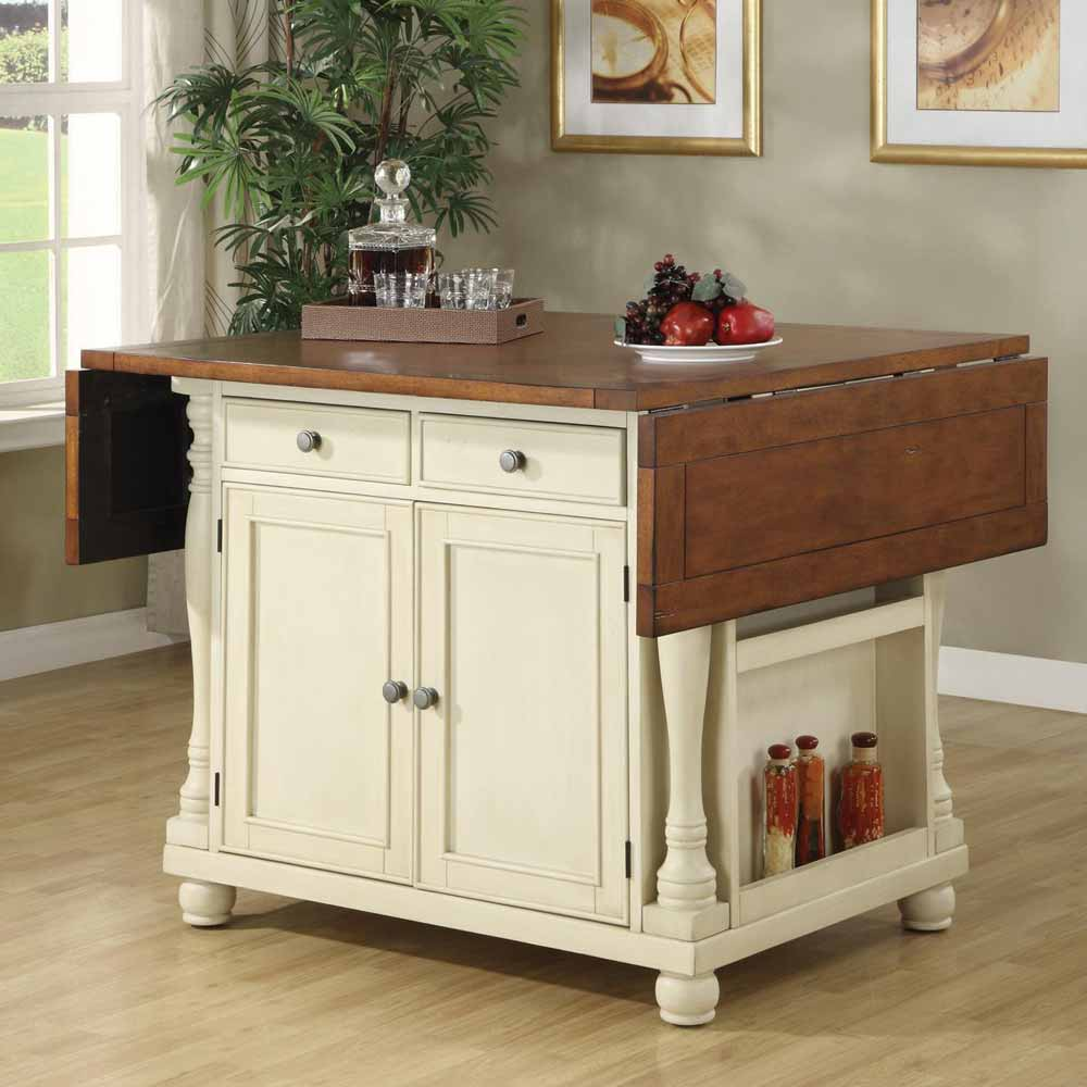 Small Country Kitchen With Island: Country Cottage Bar Unit Kitchen Island Storage Cabinet
