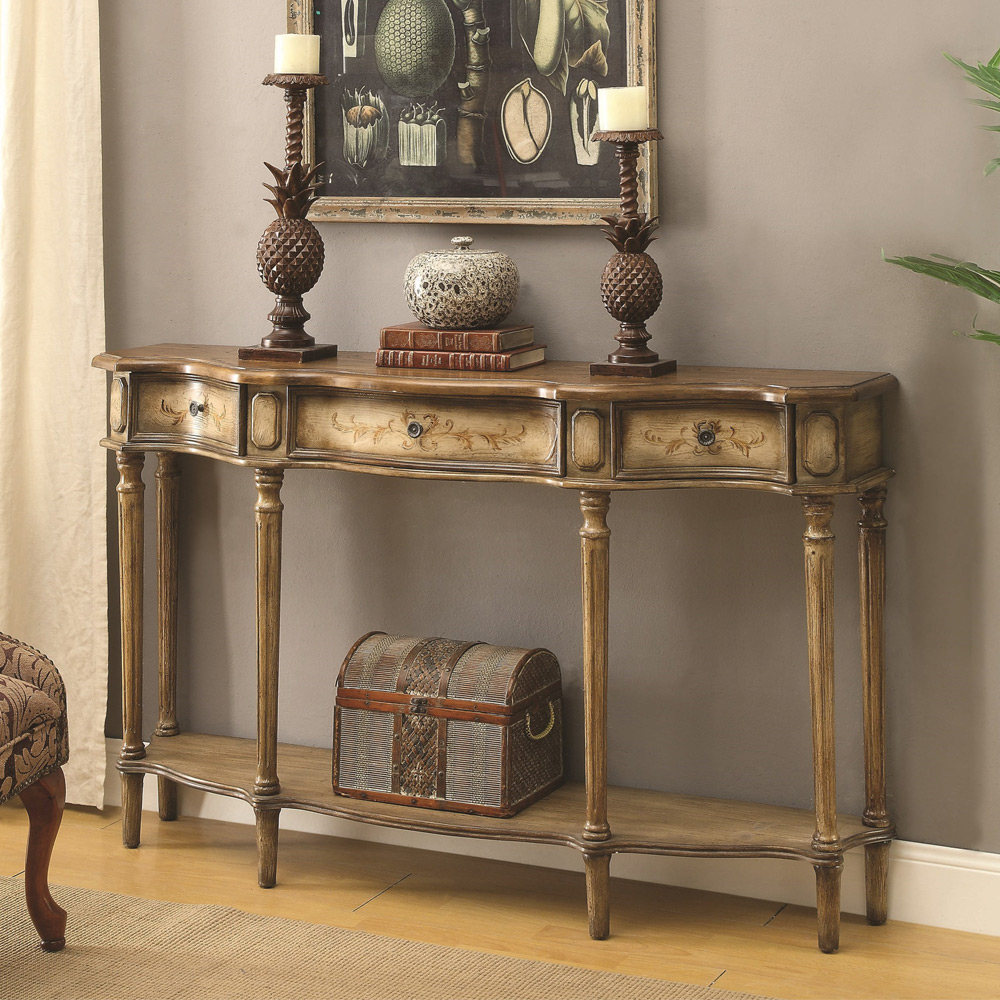 Traditional Foyer Table : Traditional hallway entryway console sofa table stand