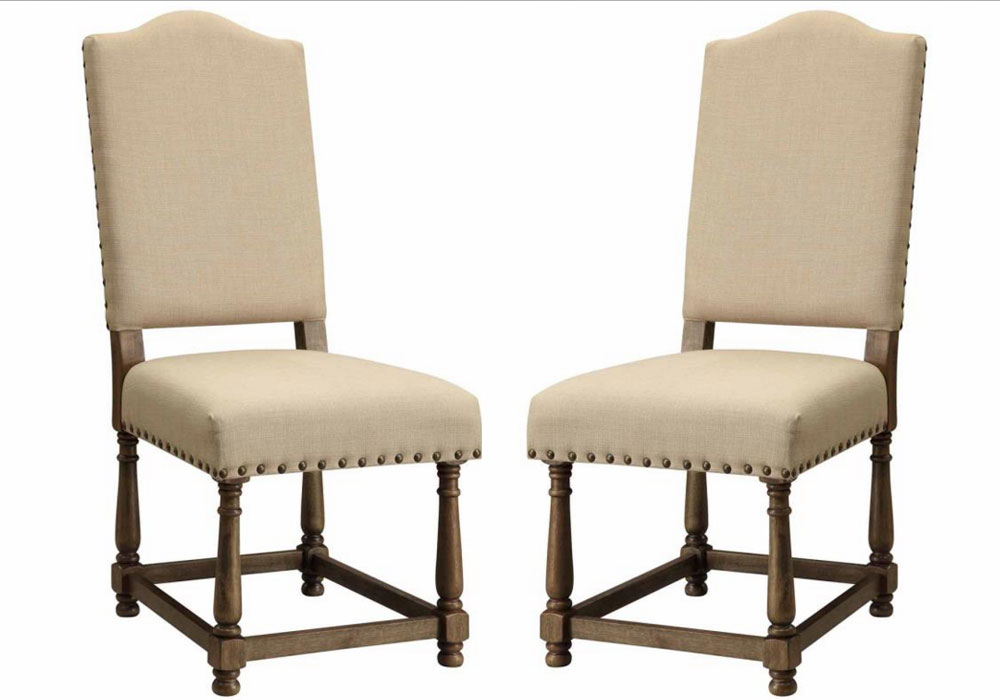 Dining room chairs nailhead trim image mag - Nailhead dining room chairs ...