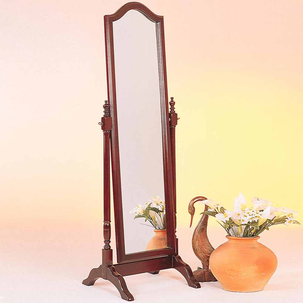 Accent swivel standing full length cheval floor mirror for Wood floor length mirror