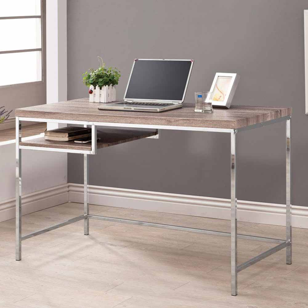 home office writing computer desk w reclaimed wood look