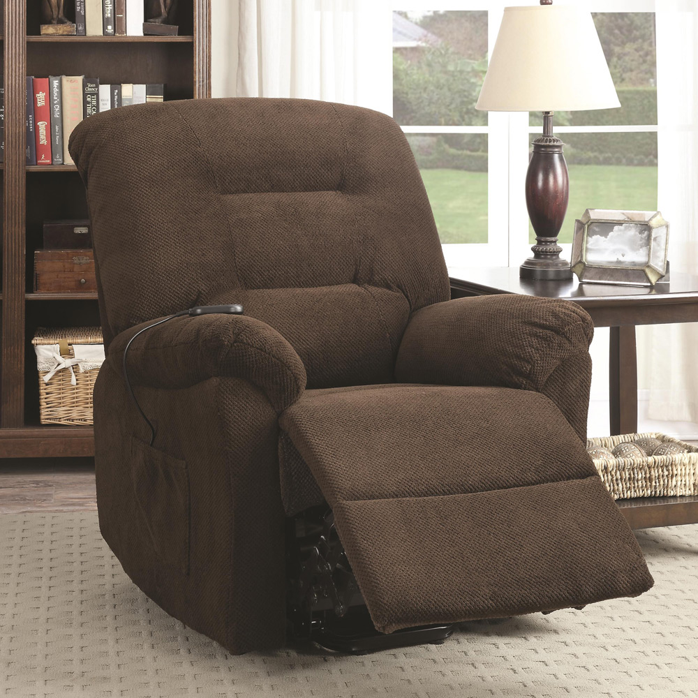 0accent Power Lift Recliner Chair Remote Upholstery Plush