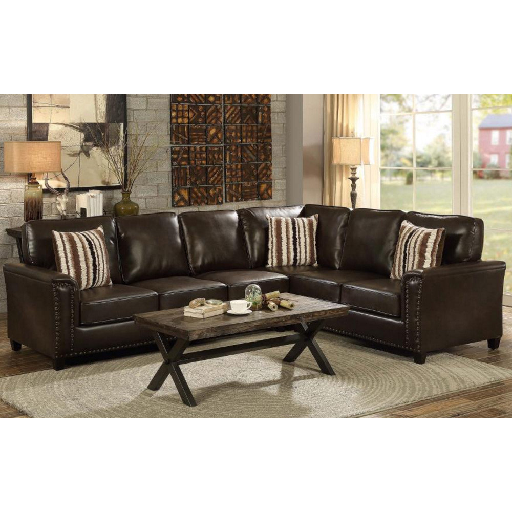 Living Room Sectional Couch Pull Out Sofa Bed Sleeper Dark