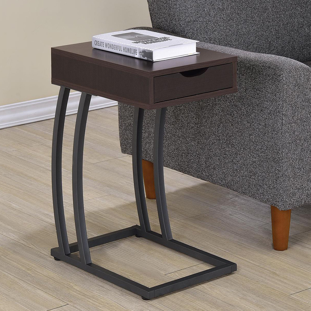 Accent snack side chairside table stand drawer outlet for P table with charges