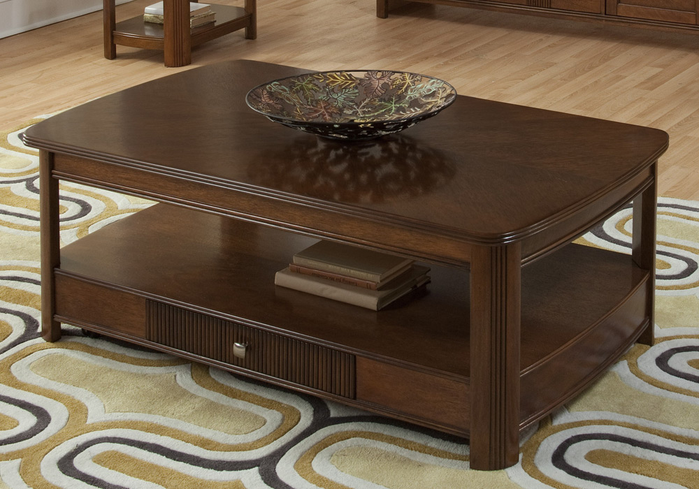 Leighla Living Room Lift Top Cocktail Coffee Table Round Edges African Chestnut Ebay