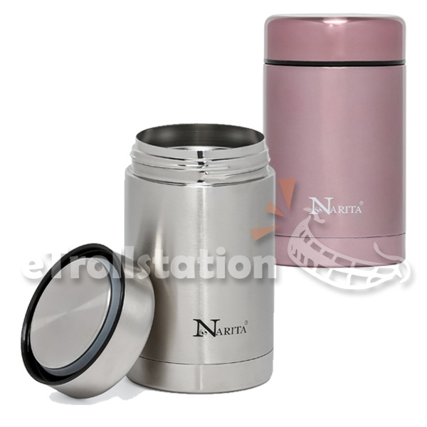 Narita Thermos Vacuum Insulated Food Jar Stainless Steel ...